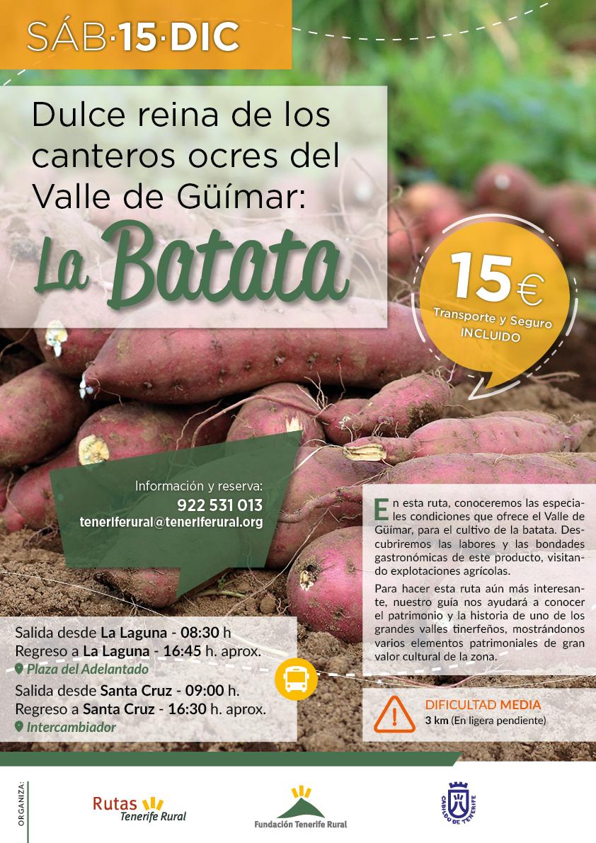 Dulce reina de los canteros ocres del Valle de Güímar: La Batata. Nueva ruta de Tenerife Rural