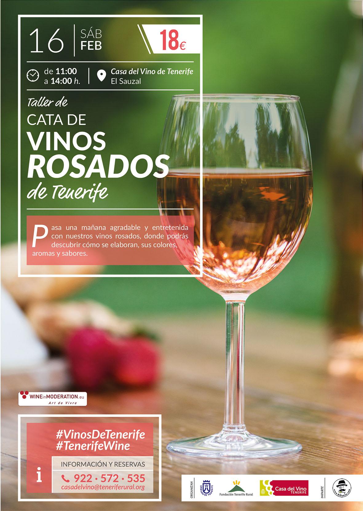 Vinos Rosados de Tenerife, una interesante cata en la Casa del Vino Tenerife