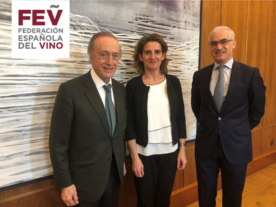 La FEV traslada a la ministra Teresa Ribera el compromiso de las bodegas españolas en la lucha contra el cambio climático
