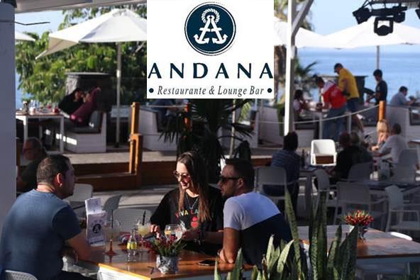 Celebrar la cena de fin de año frente al Atántico, en Andana