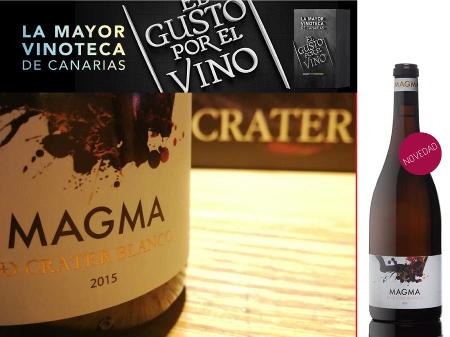 Magma de Cráter Blanco 2015, novedad de edición limitada en la Vinoteca El Gusto por El Vino.