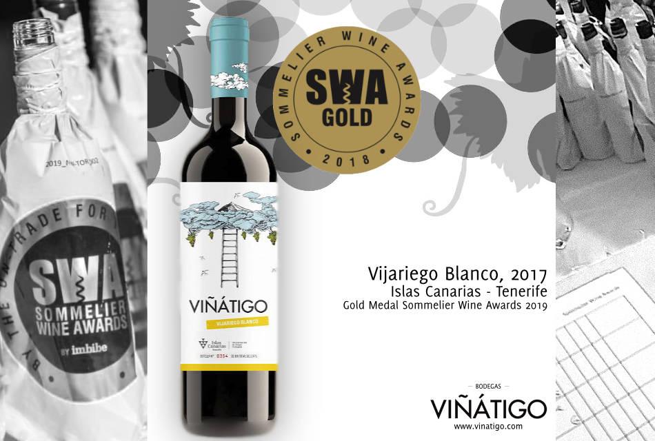 Viñátigo Vijariego Blanco 2017, Medalla de Oro en el UK´s Sommelier Wine Awards 2019