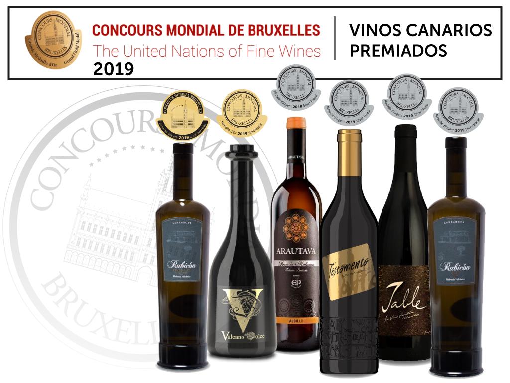 Vinos Canarios premiados en el Concurso Mundial de Bruselas 2019