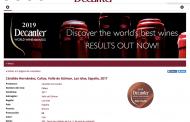 Calius 2017, premiado en los Decanter World Wine Awards 2019