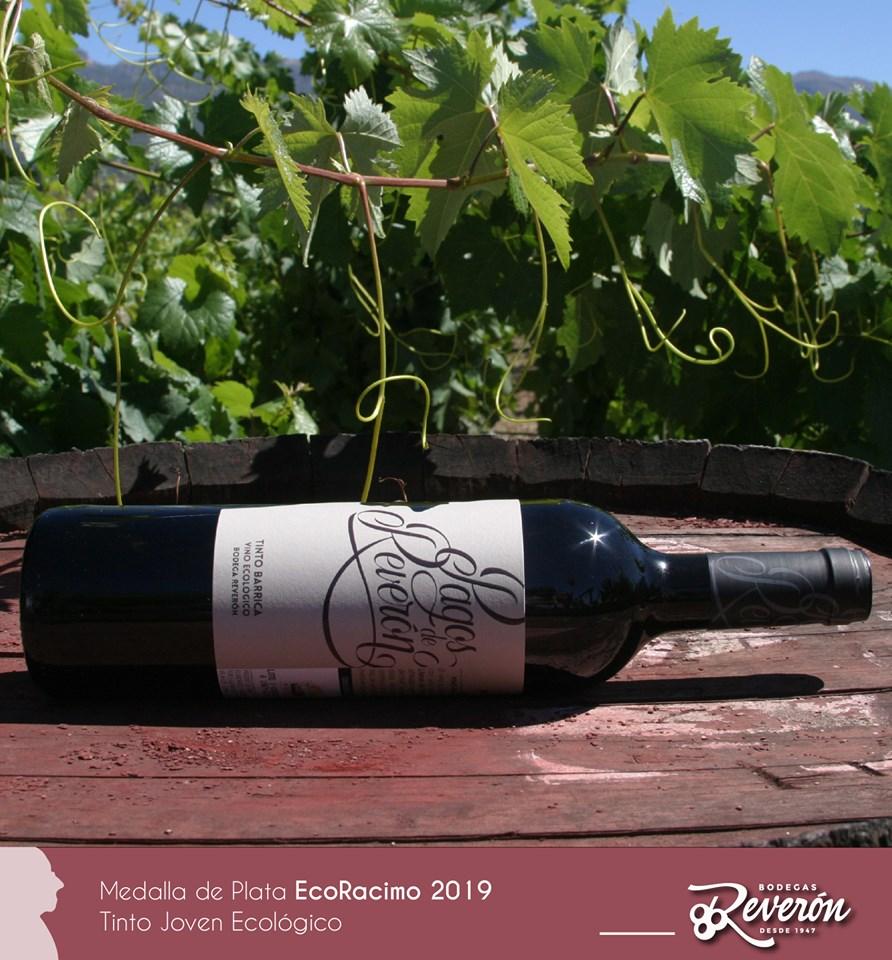 Bodegas Reverón, Premio EcoRacimo de Plata para su Tinto Barrica Ecológico Pagos de Reverón.