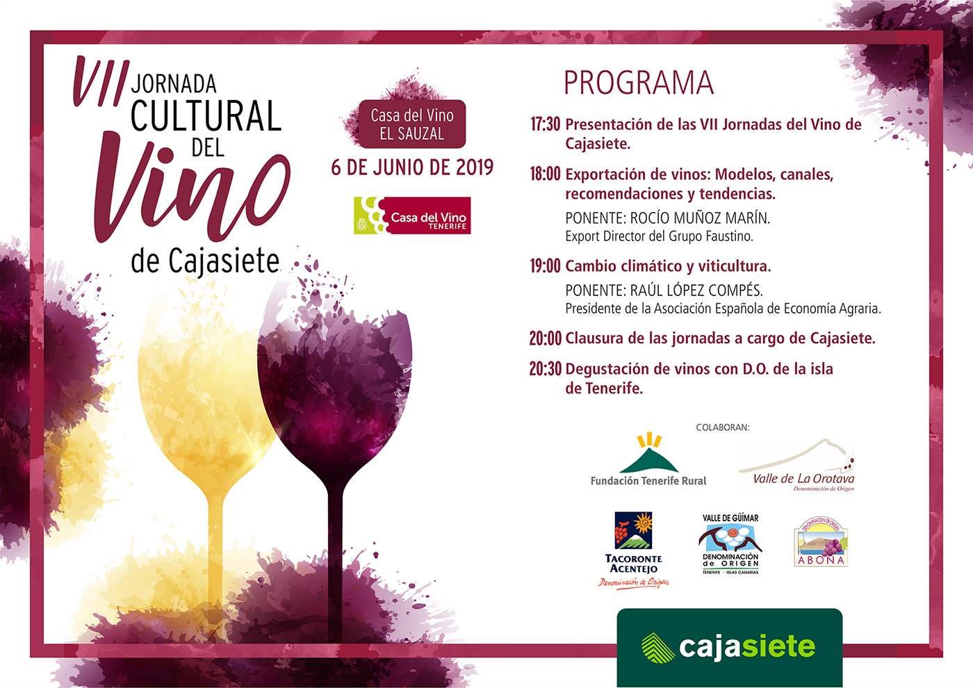 VII Jornada Cultural del Vino de Cajasiete