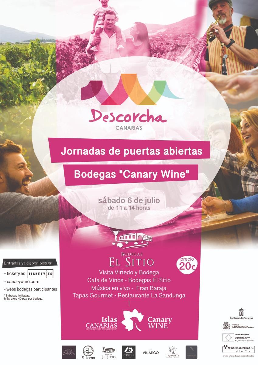 """Visita a Bodegas El Sitio, con """"Descorcha Canarias"""", 6 de julio de 2019"""