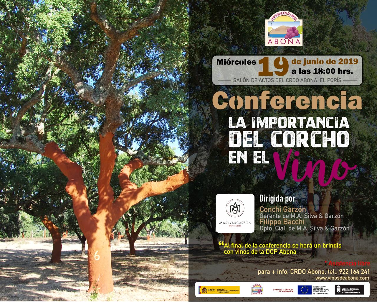 La La importancia del corcho en el vino, interesante conferencia el la sede de la DOP Abona el 19 de junio de 2019