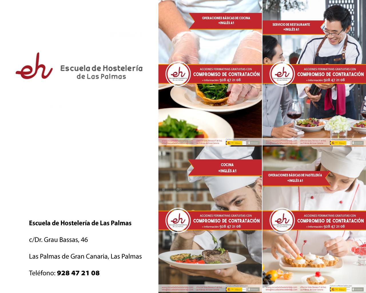 Nuevos cursos de formación con compromiso de contratación en la Escuela de Hostelería de Las Palmas