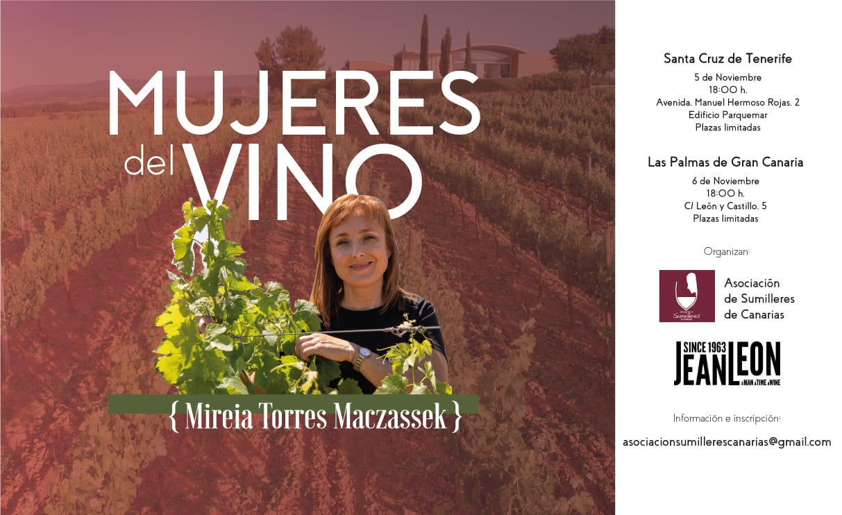 Mujeres del vino, por Mireia Torres Maczassek. Interesantes charlas en las capitales de provincia Canarias