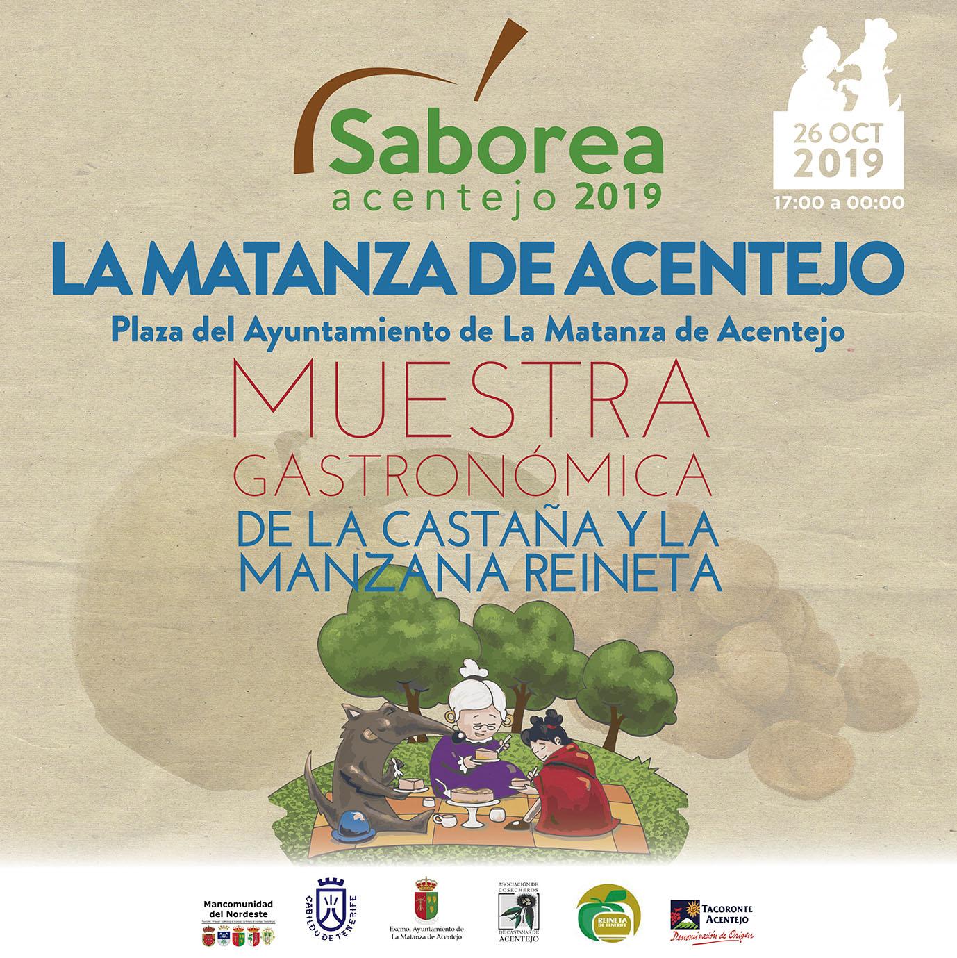 Saborea Acentejo celebra su quinta edición de la Muestra Gastronómica de la manzana reineta y castaña de Acentejo, el 26 de octubre de 2019