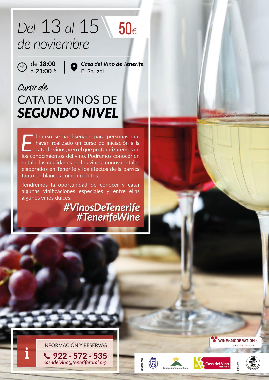 Curso de Segundo Nivel de Cata de Vinos de Tenerife, en la Casa del Vino de Tenerife, El Sauzal