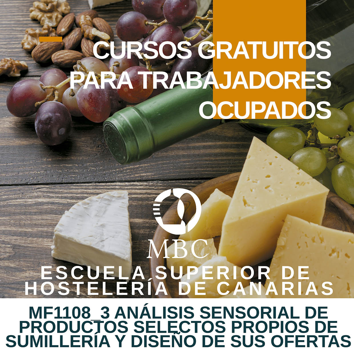 Curso de Análisis Sensorial de Productos Selectos propios de Sumillería y diseño de sus ofertas, organizado por la Escuela de Hostelería de Canarias, 2 de marzo de 2020