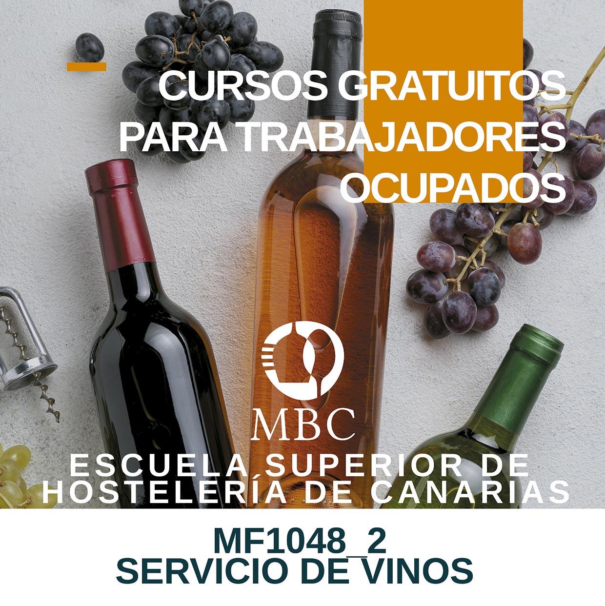 Curso de Servicio de Vinos, organizado por la Escuela de Hostelería de Canarias, abril de 2020
