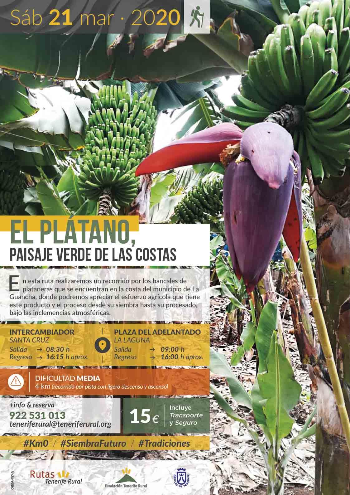 """Ruta guiada""""El Plátano, paisaje verde de las costas"""", 21 de marzo de 2020"""