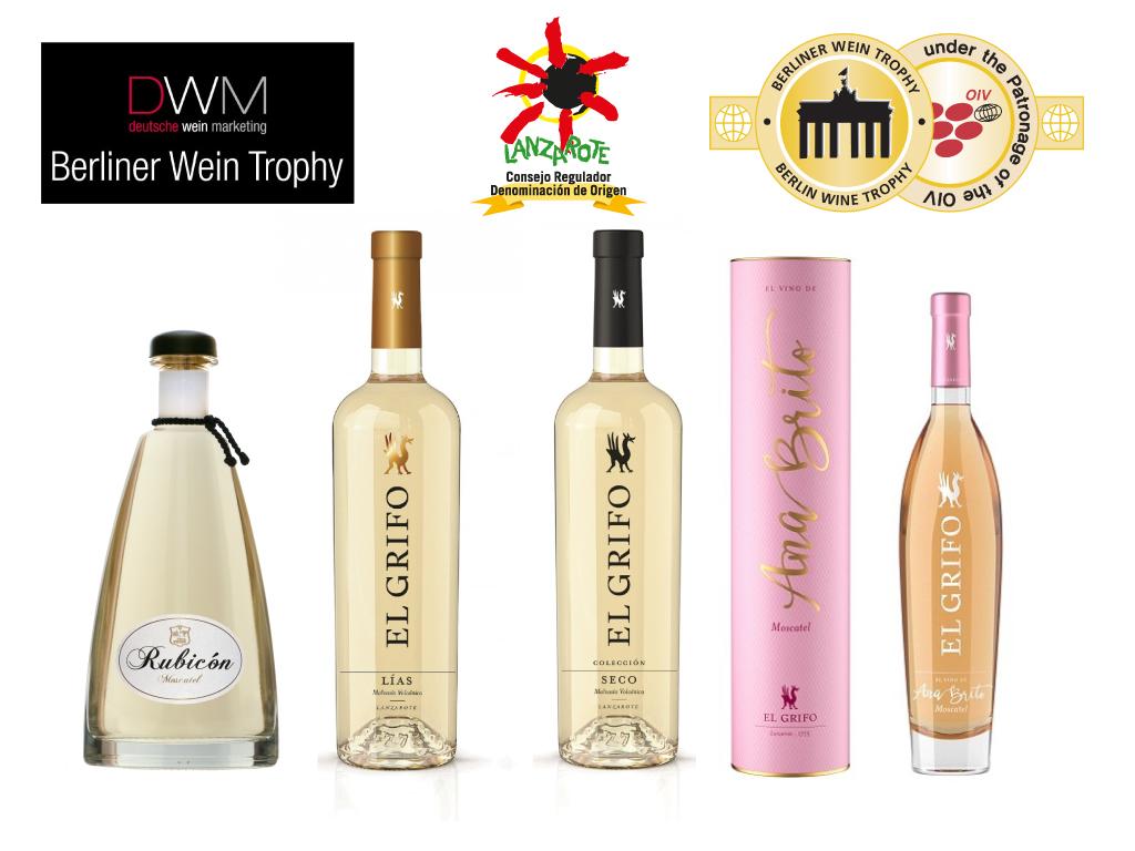 Rubicón y El Grifo logran medallas de Oro en la Berliner Wein Trophy
