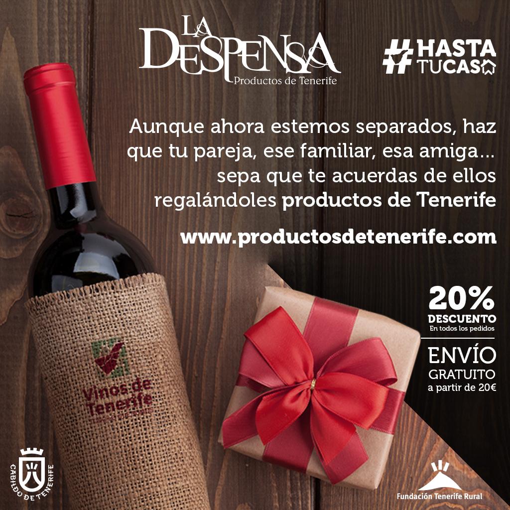 Regala productos de Tenerife sin salir de casa y brinda con quién desees, aunque sea en la distancia.