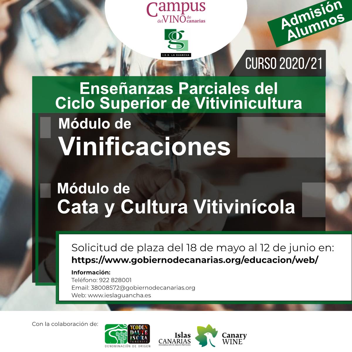 Admisión de Plazas para el Ciclo Superior de Vitivinicultura