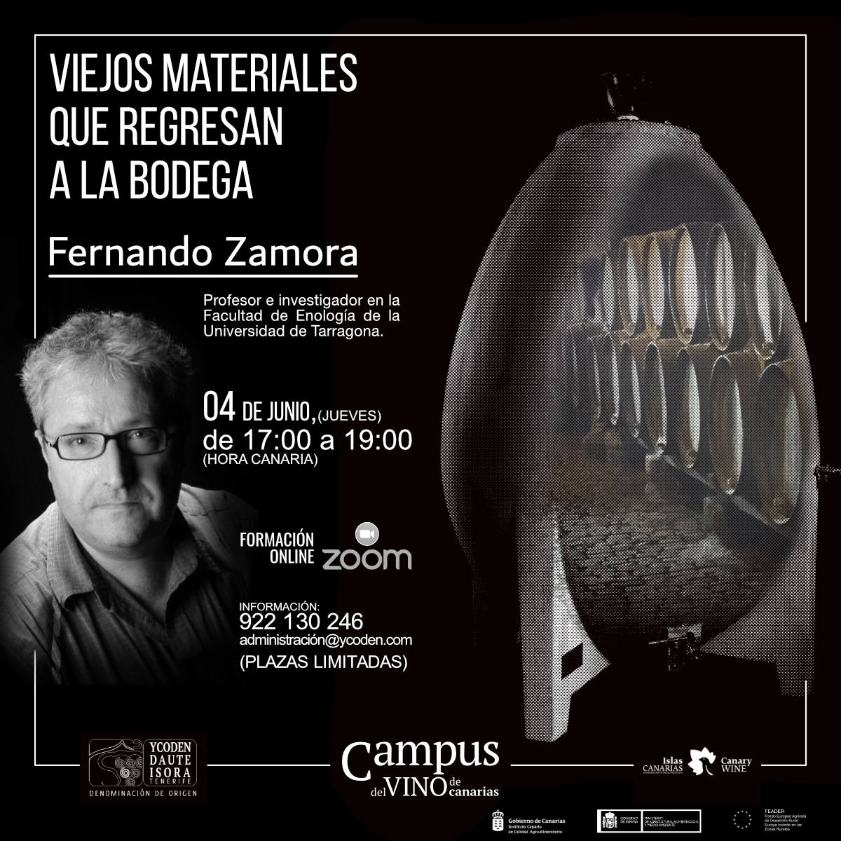 Viejos materiales que regresan a la bodega, nuevo curso del Campus del Vino de Canarias