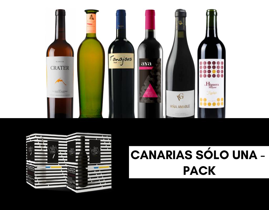 CANARIAS SÓLO UNA. Pack promocional por el día de Canarias de la Vinoteca El Gusto por El Vino