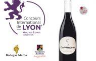 Capricho, de Bodegas Marba, Medalla de Plata en el Concurso internacional de Lyon