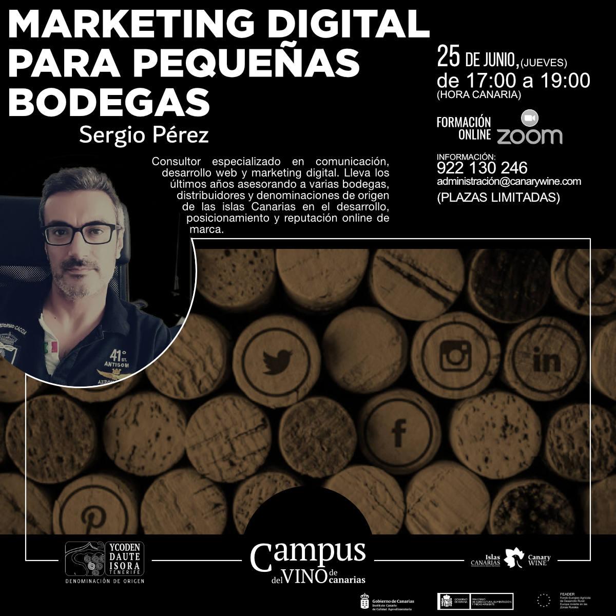 Marketing digital para pequeñas bodegas, nueva actividad formativa del Campus del Vino de Canarias