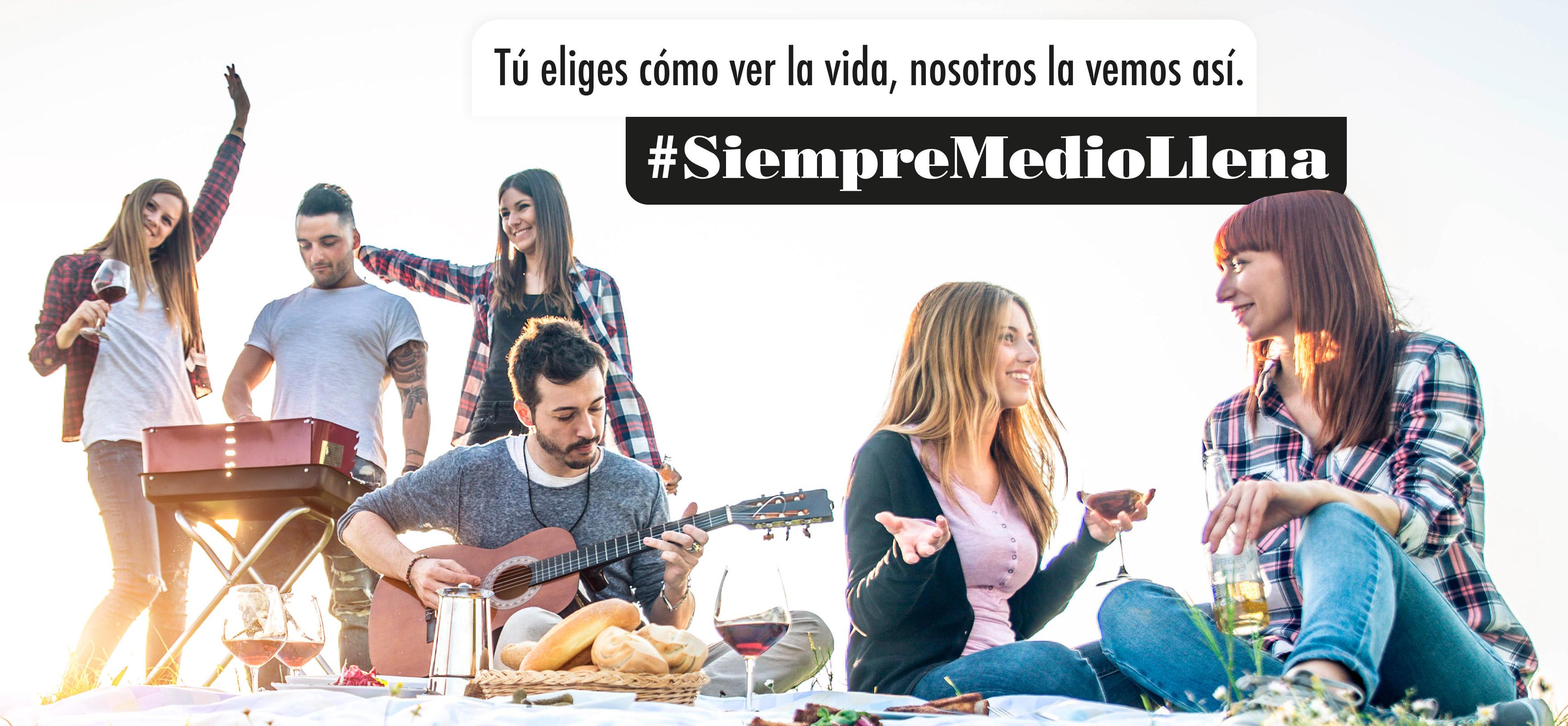 El sector del vino invita al optimismo a través de su nueva campaña #SiempreMedioLlena