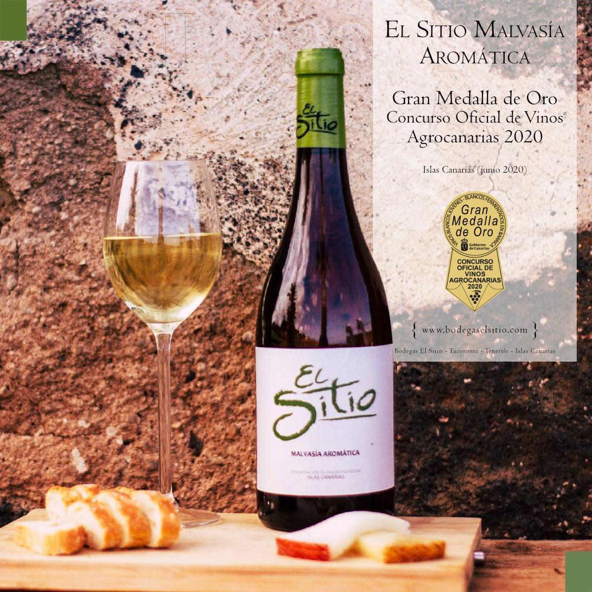 El Malvasía Aromático de Bodegas El Sitio se lleva una Gran Medalla de Oro en el Concurso Oficial de Vinos Agrocanarias 2020