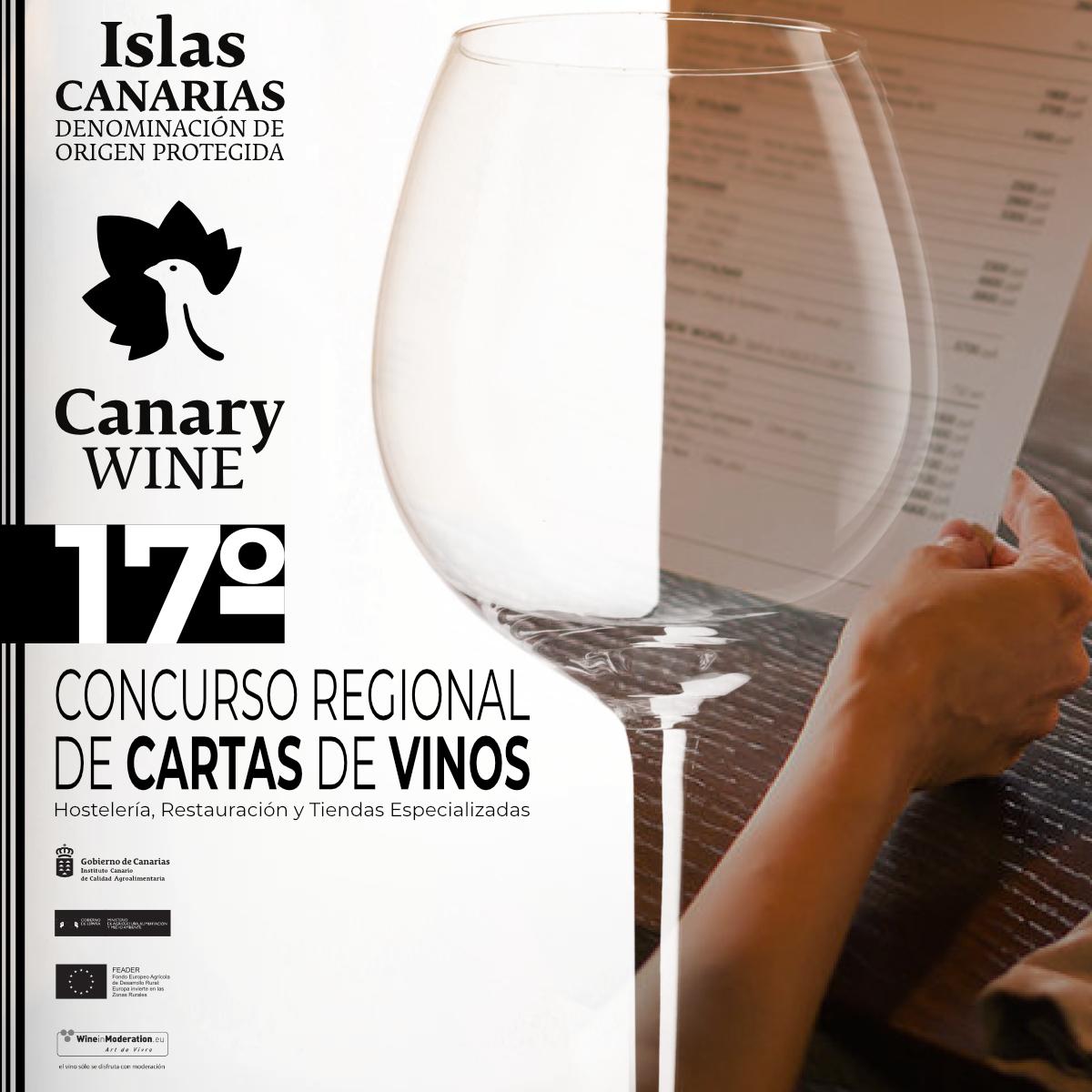 """Convocado el XVII Concurso Regional de """"Cartas de Vinos de Canarias"""" para Hostelería, Restauración y Tiendas Especializadas"""