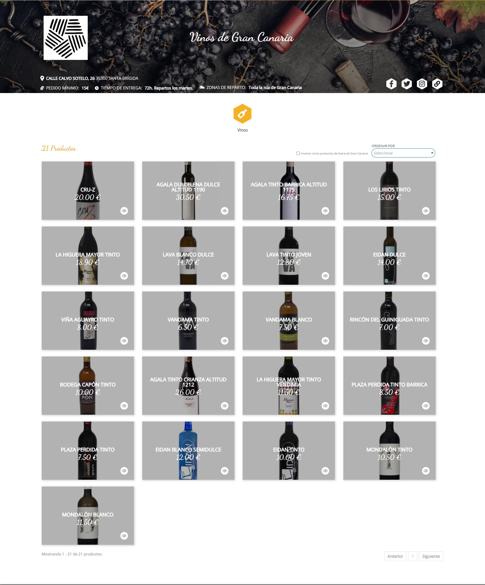 21 vinos grancanarios están disponibles en la plataforma de venta de Gran Canaria Me Gusta