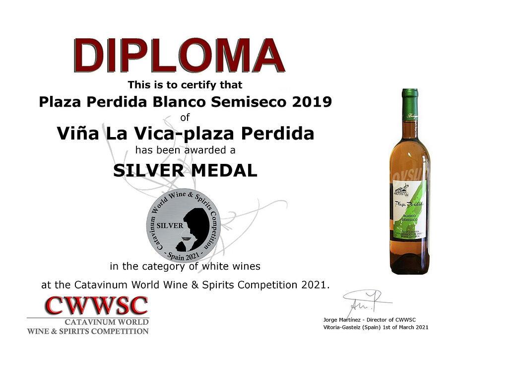 Viña La Vica y Plaza Perdida resultan premiados en el certamen Catavinum World Wine & Spirits Competition 2021