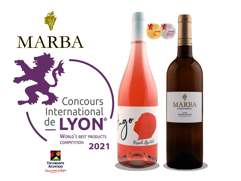 Hugo, el rosado afrutado de Bodegas Marba, consigue una medalla de Oro en el Concurso Internacional de Lyon.