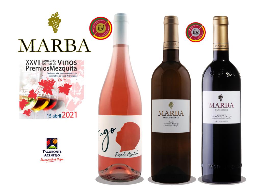 Bodegas Marba laureada con una medalla de oro y dos de plata en el 27 Concurso Ibérico de Vinos Premios Mezquita.