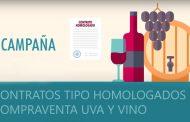 El sector vitivinícola cuenta para esta nueva  campaña con los contratos tipo homologados de compra/venta de uva y vino